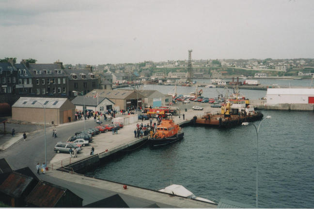 Wick harbour lifeboat day